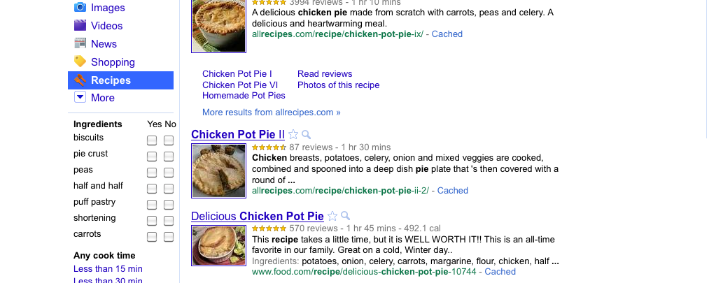 Google Recipe Search Tool: What it Means for Food Recipe Bloggers
