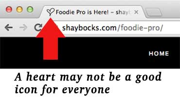 Heart favicon may not work for everyone