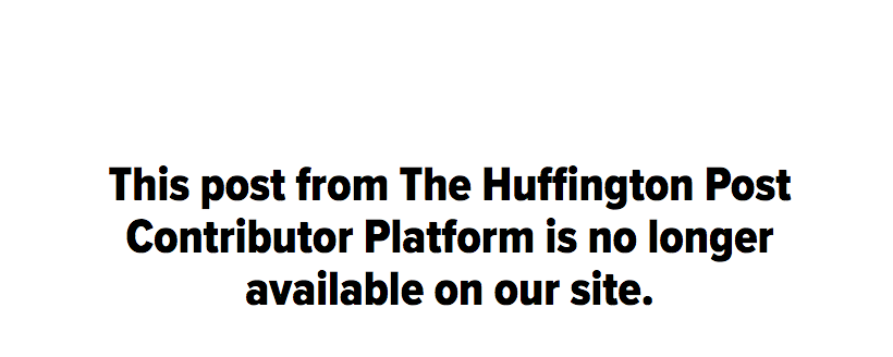 Huffington Post closes contributor platform